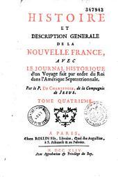 Histoire et description générale de la nouvelle France: Volume3