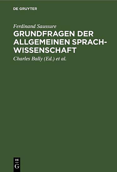Grundfragen der allgemeinen Sprachwissenschaft PDF