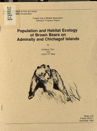 Population and Habitat Ecology of Brown Bears in Admiralty and Chichagof Islands PDF