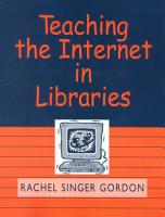 Teaching the Internet in Libraries PDF