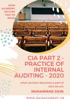 CIA Part 2   Practice of Internal Auditing   2020 PDF