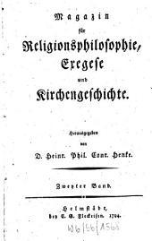 Magazin für Religionsphilosophie, Exegese und Kirchengeschichte: Band 2