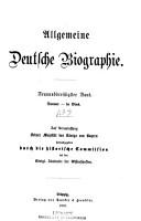 Allgemeine deutsche Biographie PDF