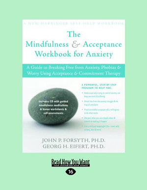 Mindfulness   Acceptance for Anxiety  Large Print 16pt
