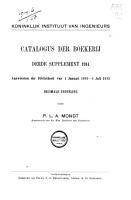 Catalogus der boekerij van het Koninklijk Instituut van Ingenieurs PDF