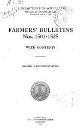 Farmers' Bulletin: Issues 1501-1525