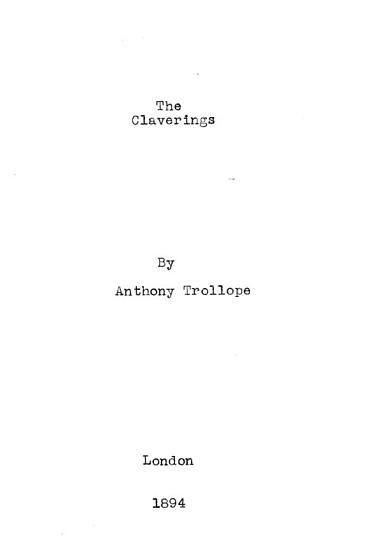 The Claverings PDF