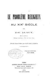 Le problème religieux au XIXe siècle