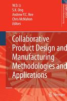 Collaborative Product Design and Manufacturing Methodologies and Applications PDF