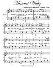 Missouri Waltz - Easy Piano Sheet Music