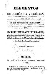 Elementos de retórica y poética
