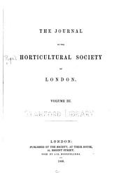 Journal of the Royal Horticultural Society: Volume 3