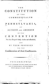 The Constitution of the Commonwealth of Pennsylvania