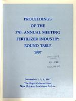 Proceedings. - Fertilizer Industry Round Table, Washington, D.C.