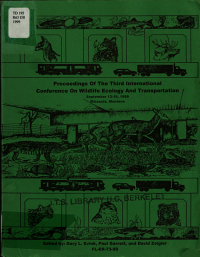 Proceedings of the Third International Conference on Wildlife Ecology and Transportation
