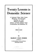 Twenty Lessons in Domestic Science