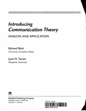 Introducing Communication Theory PDF