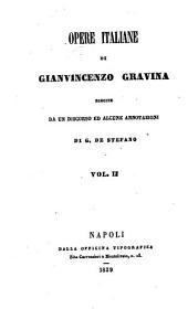 Opere italiane di GianVincenzo Gravina: 2