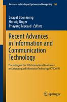 Recent Advances in Information and Communication Technology PDF