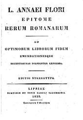 L. Annaei Flori Epitome rerum Romanarum. Ed.stereotypa