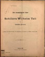Die dramatische Idee in Schillers Wilhelm Tell PDF