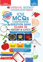 Oswaal ICSE MCQs Chapterwise Question Bank Class 10  History   Civics Book  For Semester 1  2021 22 Exam with the largest MCQ Question Pool  PDF