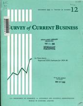 Survey of Current Business: Volume 79, Issue 12