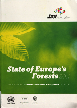 State of Europe s Forests  2011 PDF