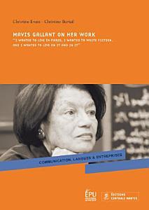 Mavis Gallant on Her Work Book