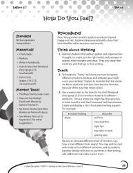 Writing Lesson Level 3 How Do You Feel  Book PDF