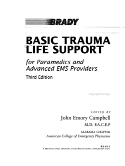 Basic Trauma Life Support for Paramedics and Advanced EMS Providers PDF