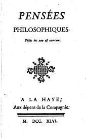Pensées philosophiques: Numéro1
