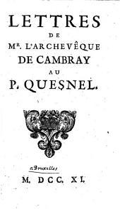 Lettres au Pere Quesnel