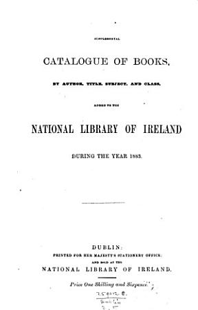 Supplemental catalogue of books  by author  title  subject and class  added     from October 1874 to December 1879  1893   PDF