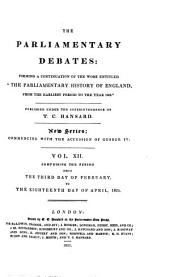 Parliamentary Debates: Official Report : ... Session of the ... Parliament of the United Kingdom of Great Britain and Ireland, Volume 12