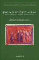 Download Jews in Early Christian Law Book
