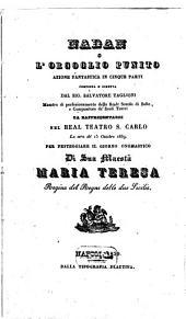 Nadan o L'orgoglio punito: azione fantastica in cinque parti : da rappresentarsi nel Real Teatro S. Carlo la sera de' 15 ottobre 1839