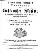 Grammatisch-kritisches Wörterbuches der Hochdeutschen Mundart: th., von A-E. 1793