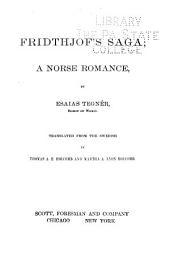 Fridthjof's Saga: A Norse Romance