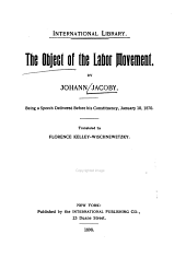 The Object of the Labor Movement