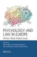 Psychology and Law in Europe PDF
