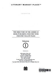 Literary Market Place PDF