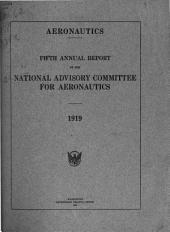 Annual Report of the National Advisory Committee for Aeronautics: Volume 5