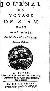 Journal du voyage de Siam fait en 1685. & 1686