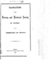 Transactions of the Literary and Historical Society of Quebec: Parts 13-15