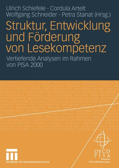 Struktur  Entwicklung und F  rderung von Lesekompetenz PDF