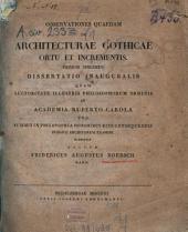 Observationes quaedam de architecturae Gothicae ortu et incrementis: Specimen 1