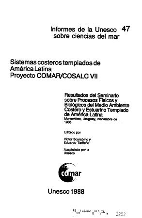 Unesco Reports in Marine Science PDF