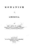 Romanism in America PDF