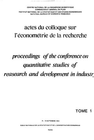 Actes du Colloque sur l   conom  trie de la recherche PDF